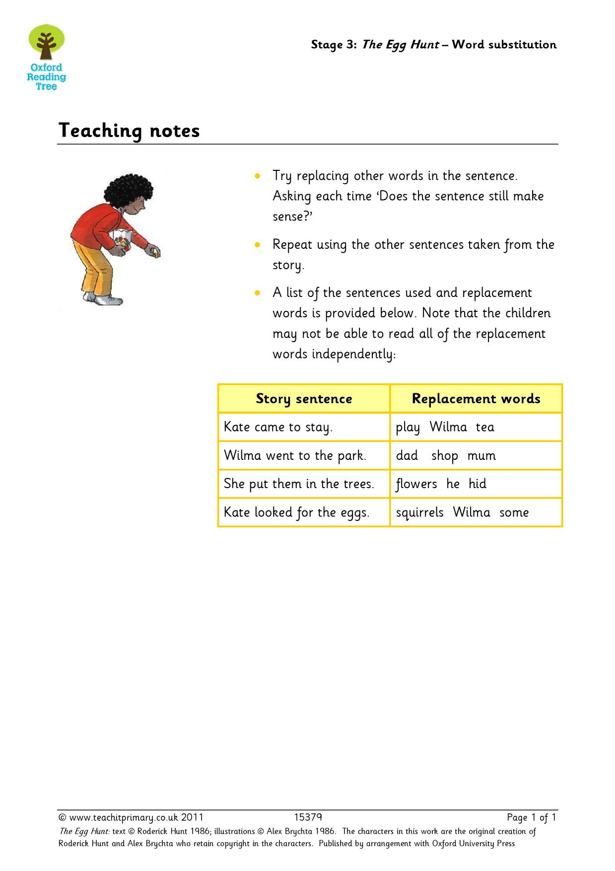 Teaching Resources For Oxford Reading Tree Stage 3 Stories