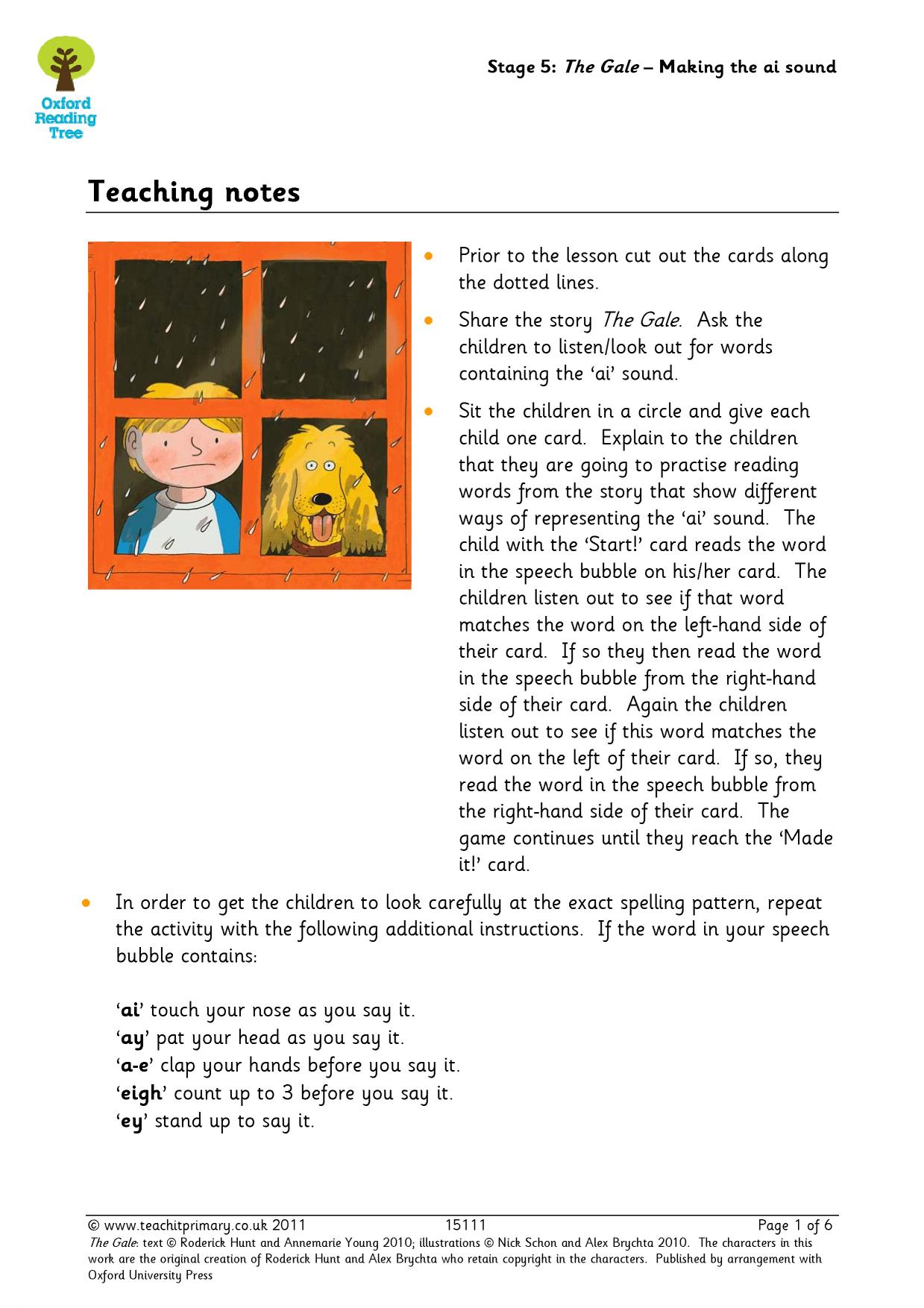 Oxford Reading Tree Resources