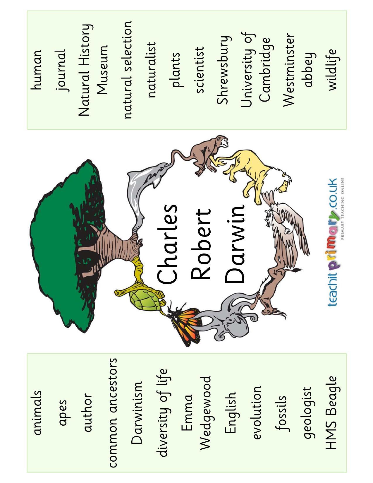 Charles Darwin Word Mat