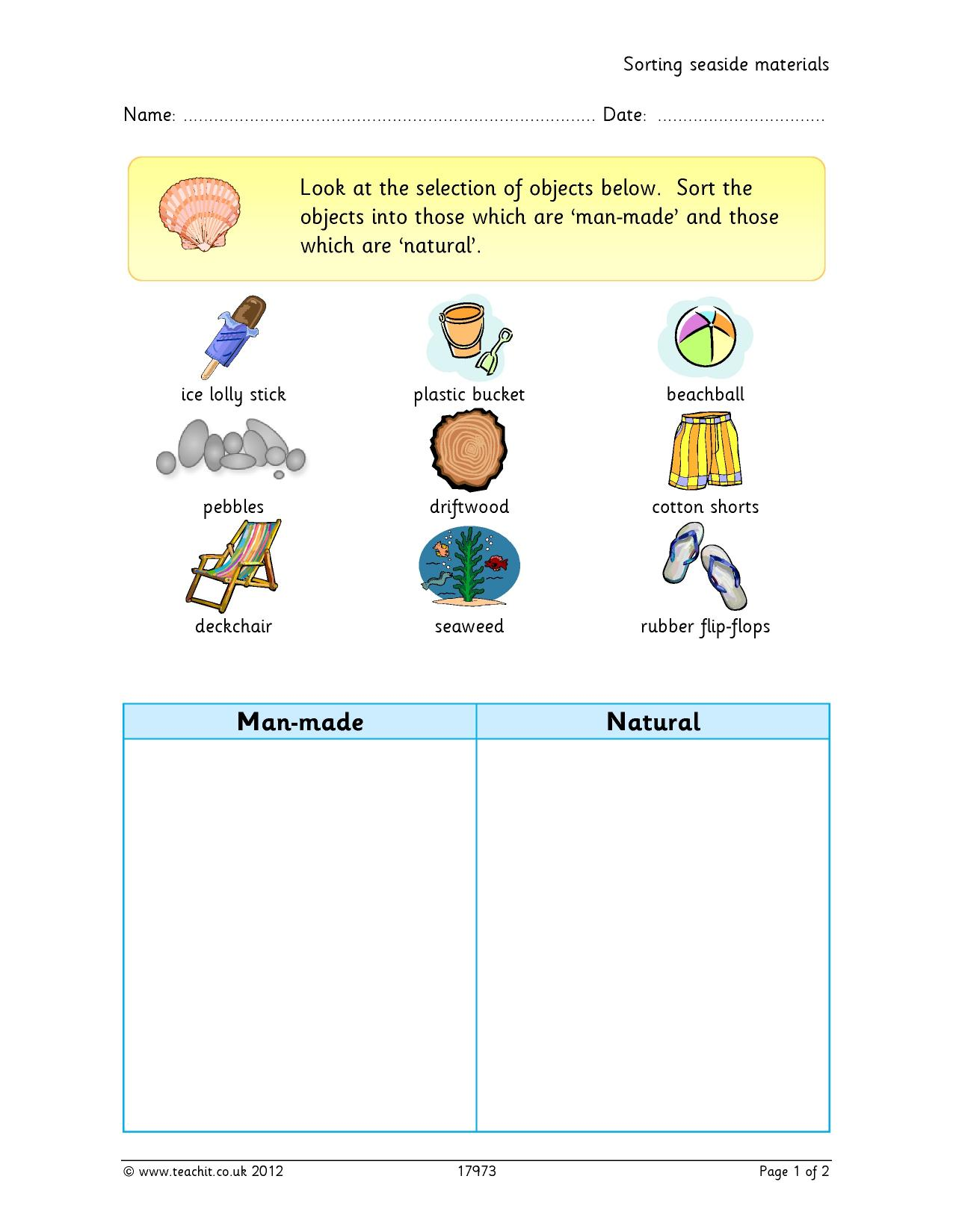 Resources Water Worksheet For Kindergarten