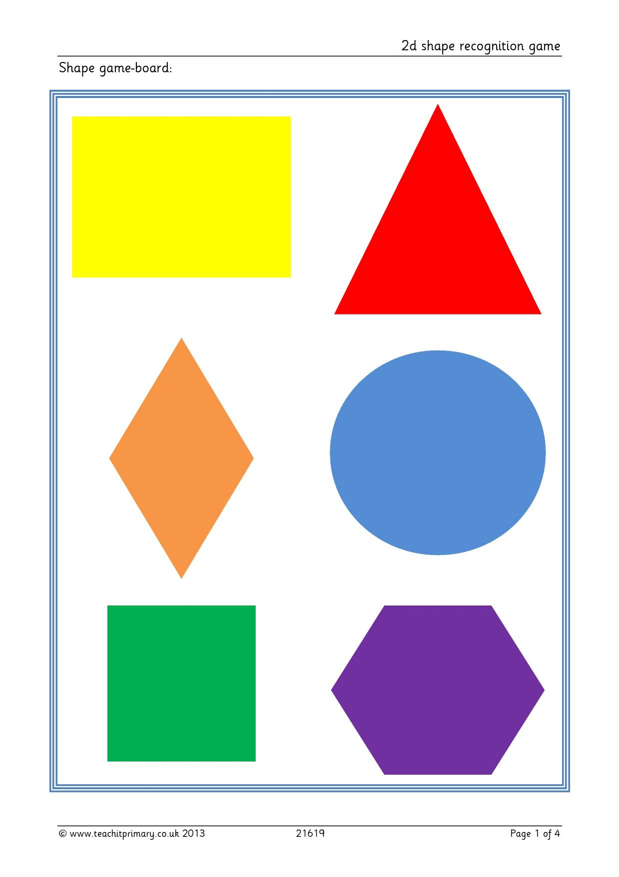 2d Shape Recognition Game