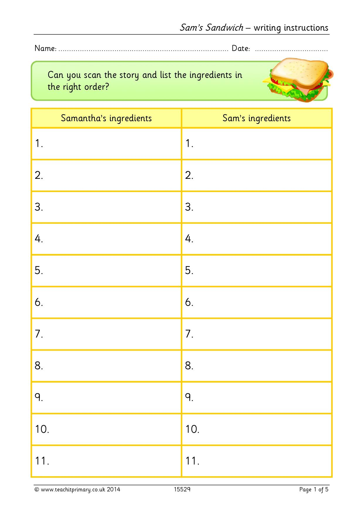 Creative Writing Worksheets Ks2