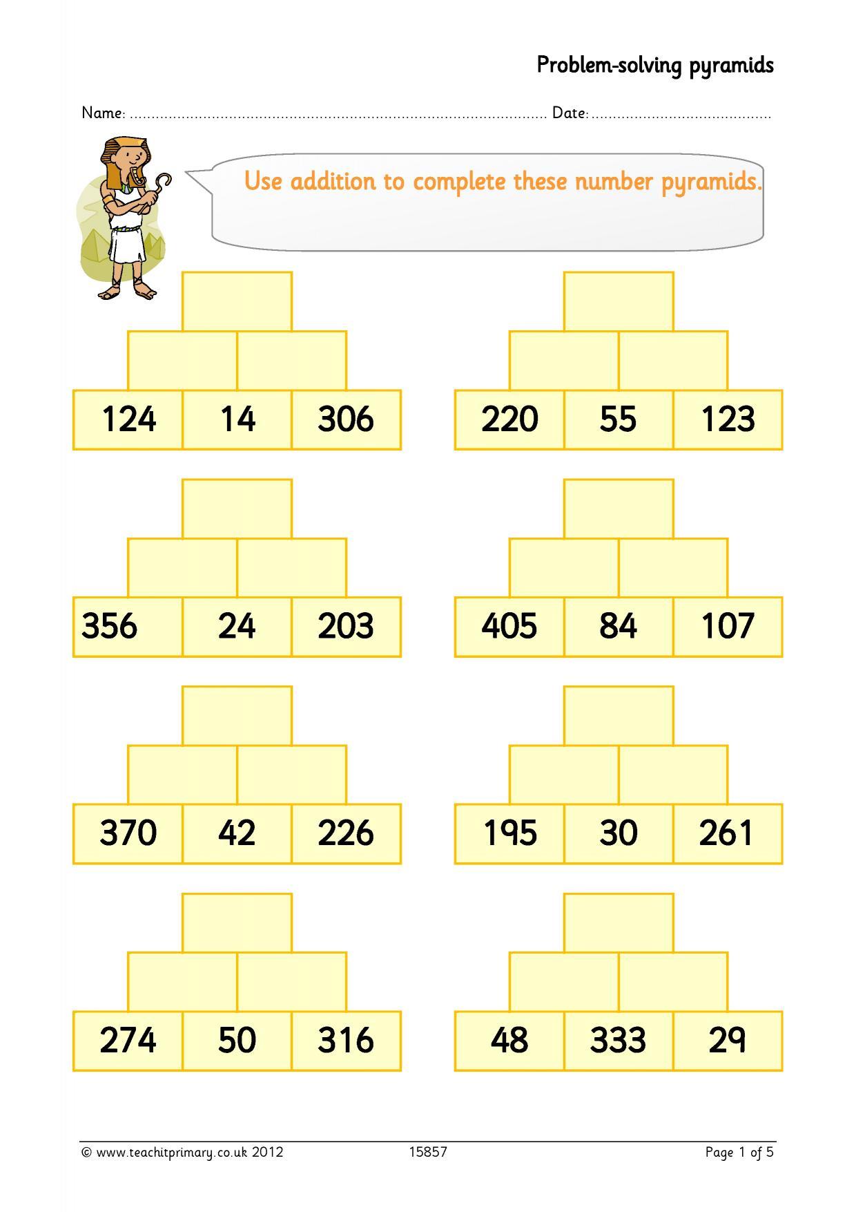 Problem Solving Pyramids