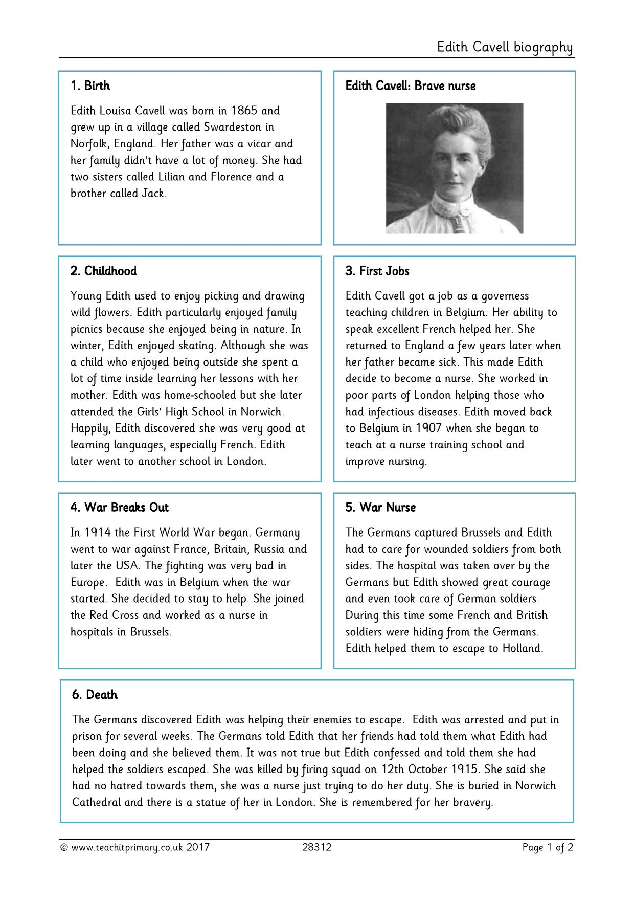 Roald Dahl Biography Ks2 Planning Biography Ks2 Word Bank