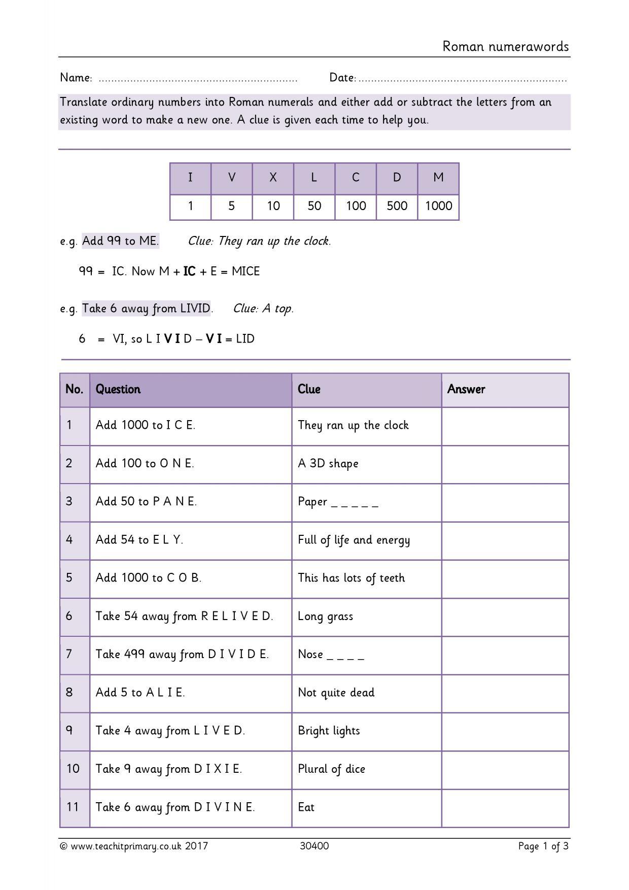 Ordering Numbers Worksheet Ks2