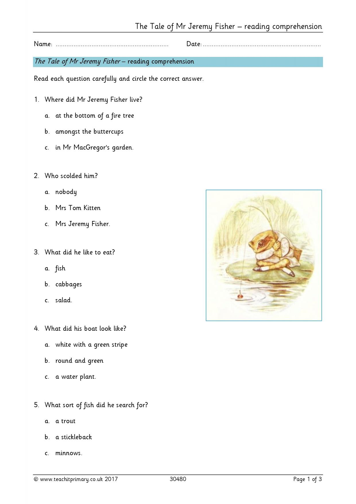 Reading Comprehension Teaching Resources For Ks1