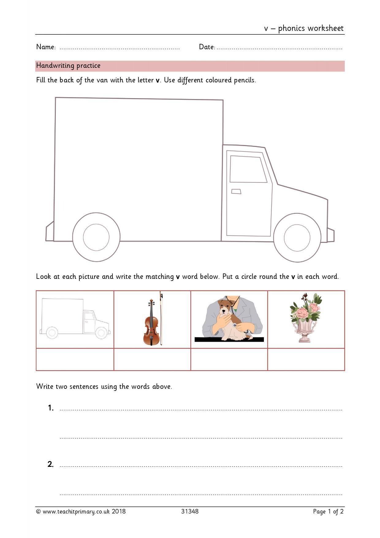 Wonderful Phonics Worksheet Ks1