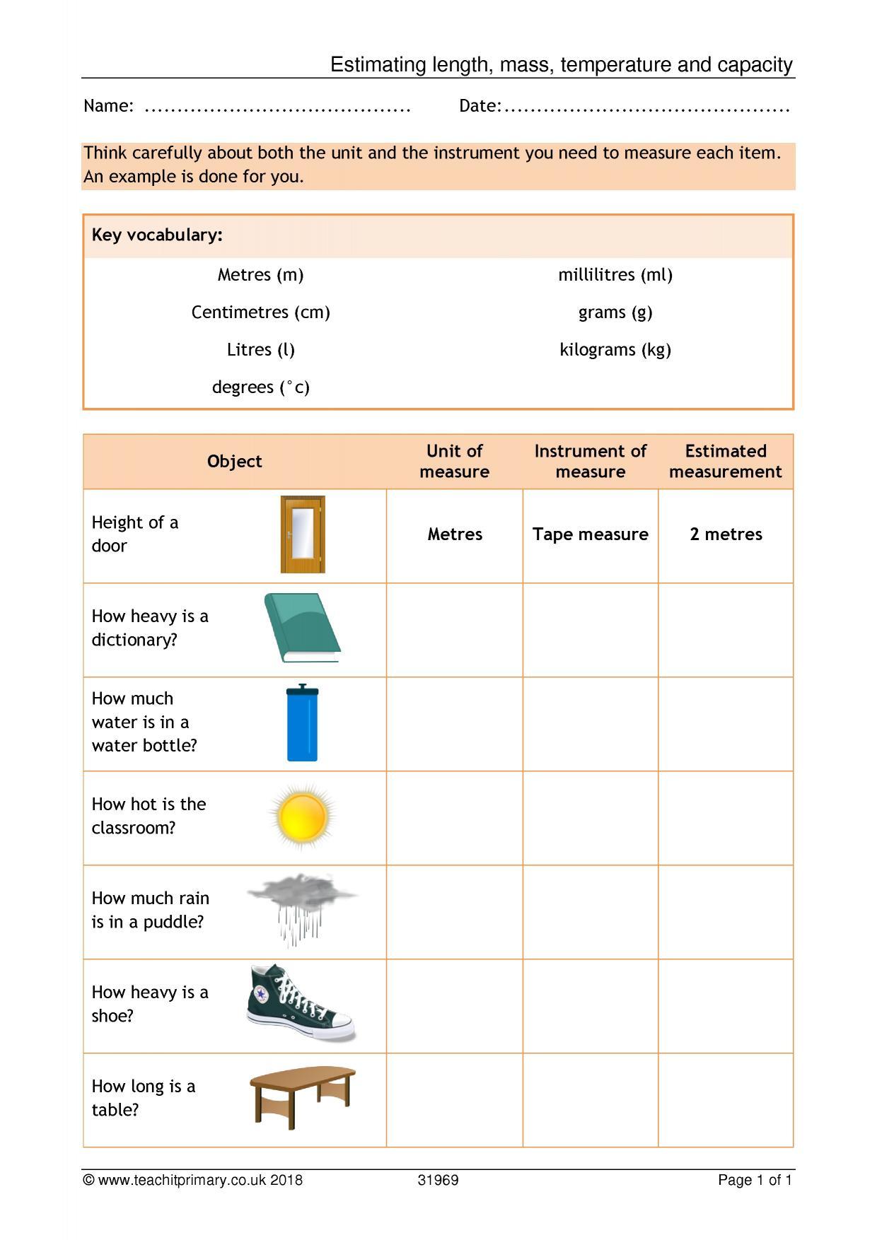 Worksheet For Mas Ks2