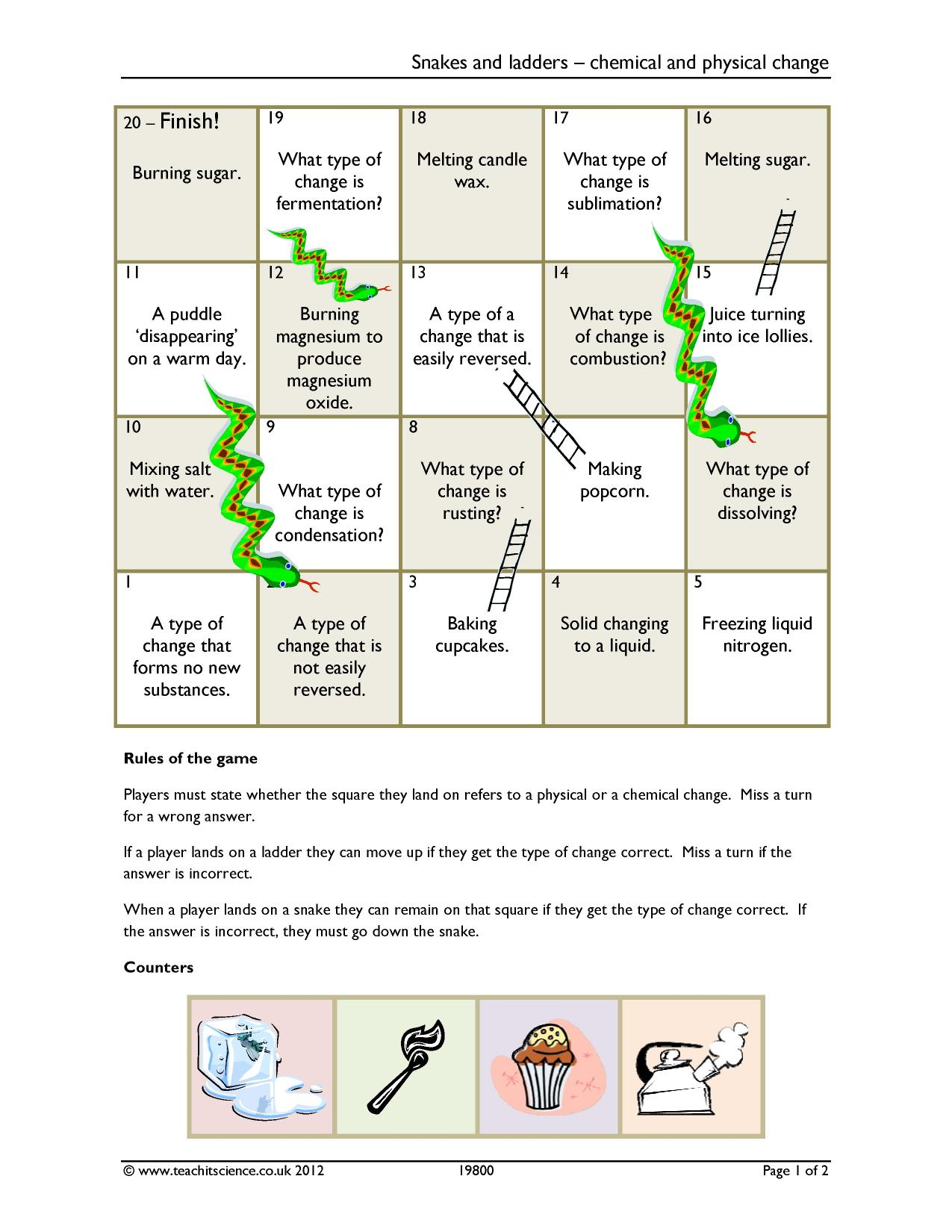 Atoms Elements And Compounds Worksheets