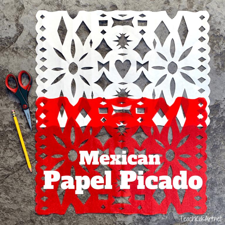 Photo of homemade Mexican Papel Picado