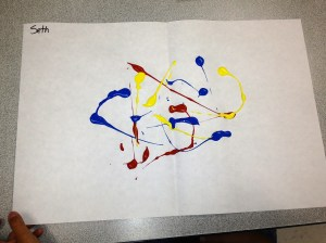 K Rorschach Print - applying paint