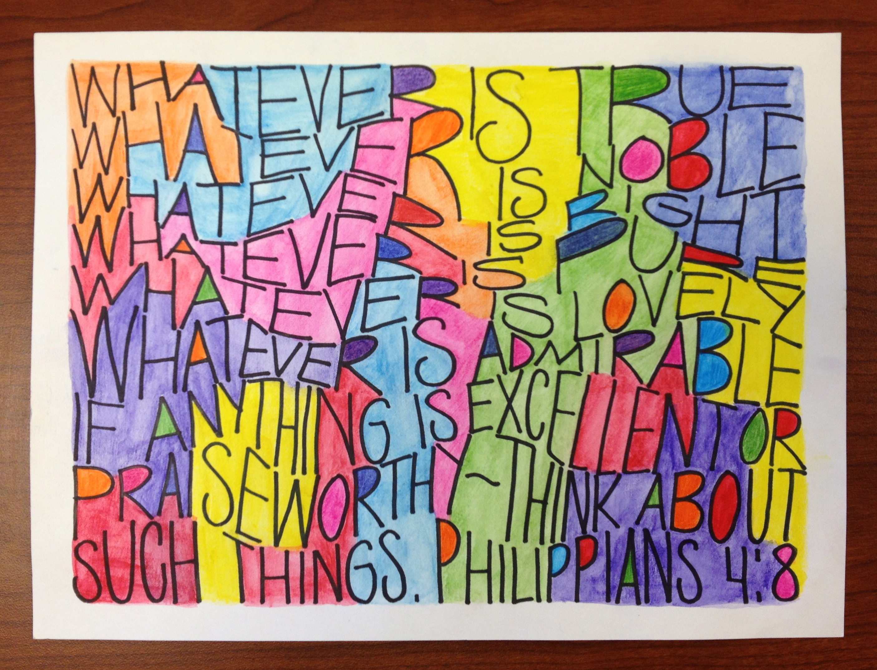 Dense Text Lettering Teachkidsart