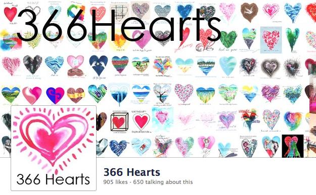 366 Hearts on Facebook