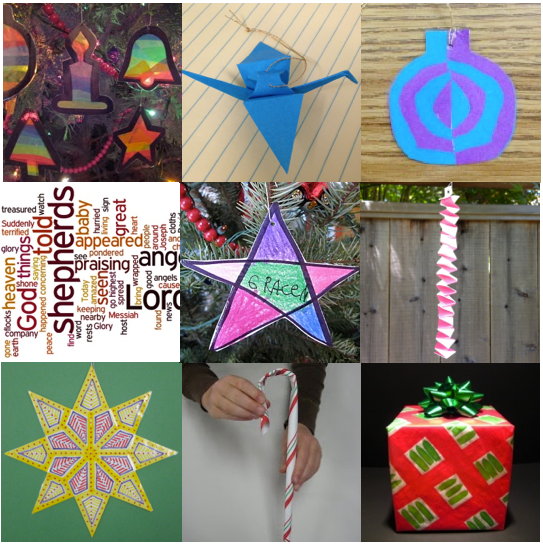 a photo of 9 handmade Christmas decorations for kids to make