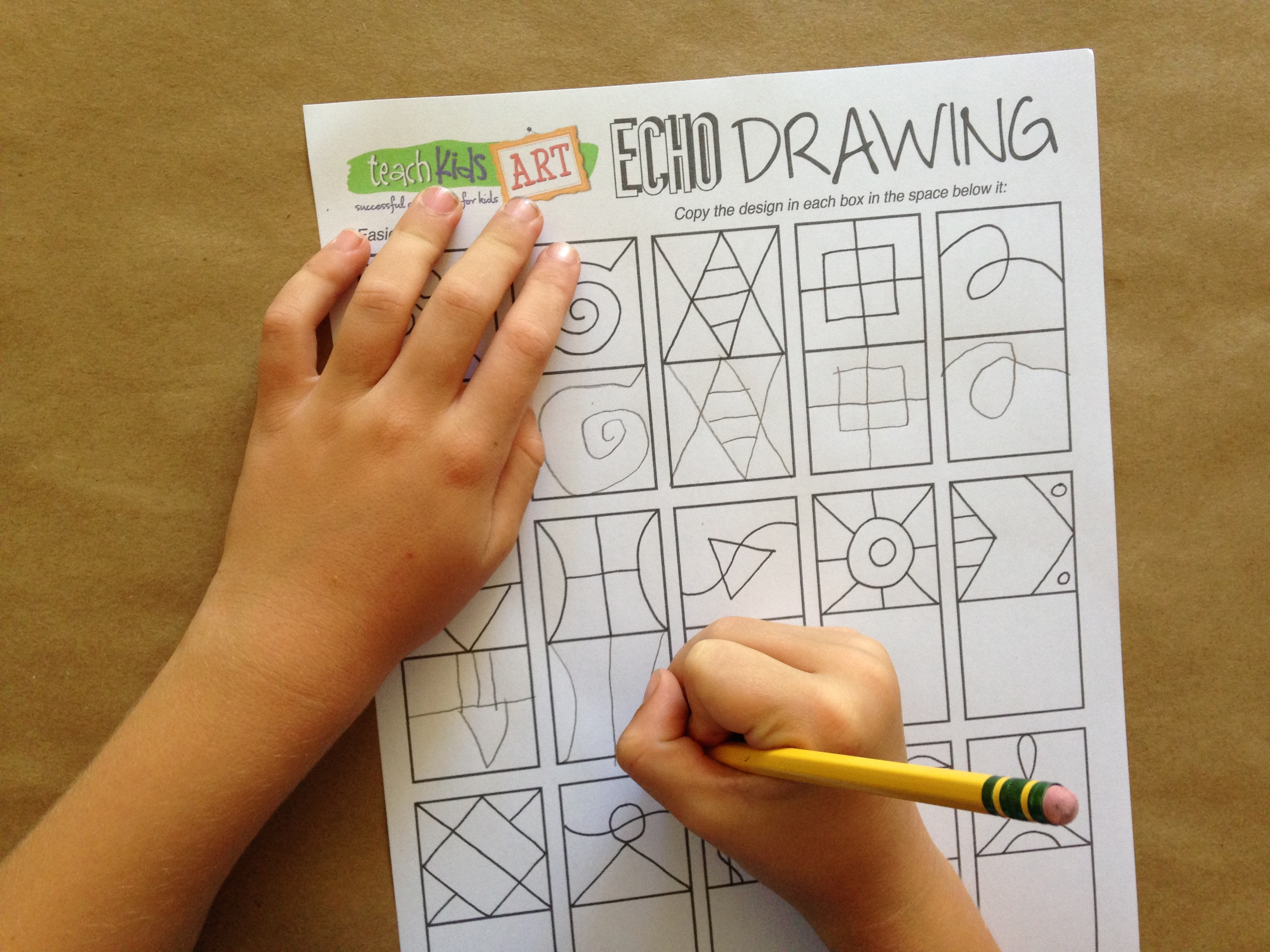Learning To Draw With Echo Drawing Teachkidsart