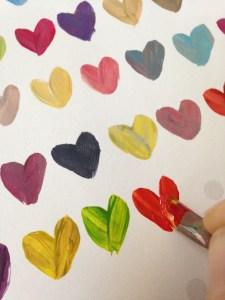Paint a heart - step 2