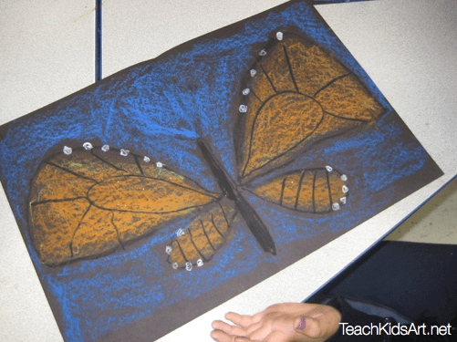 How to Draw a Monarch Butterfly step-by-step