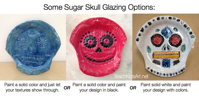 Some Sugar Skull Glazing Options