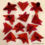 Origami Flower Balls - Step 4. Repeat steps 2 & 3 to make 12 flowers.
