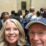 Joining the crowd with a Mona Lisa selfie!
