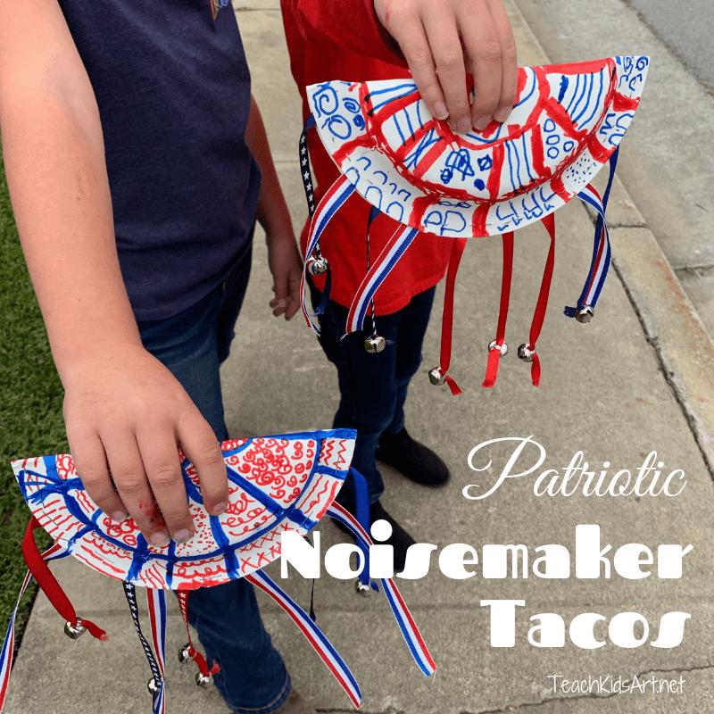 Patriotic Noisemaker Tacos