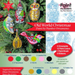 photo of a paint by number ornament kit