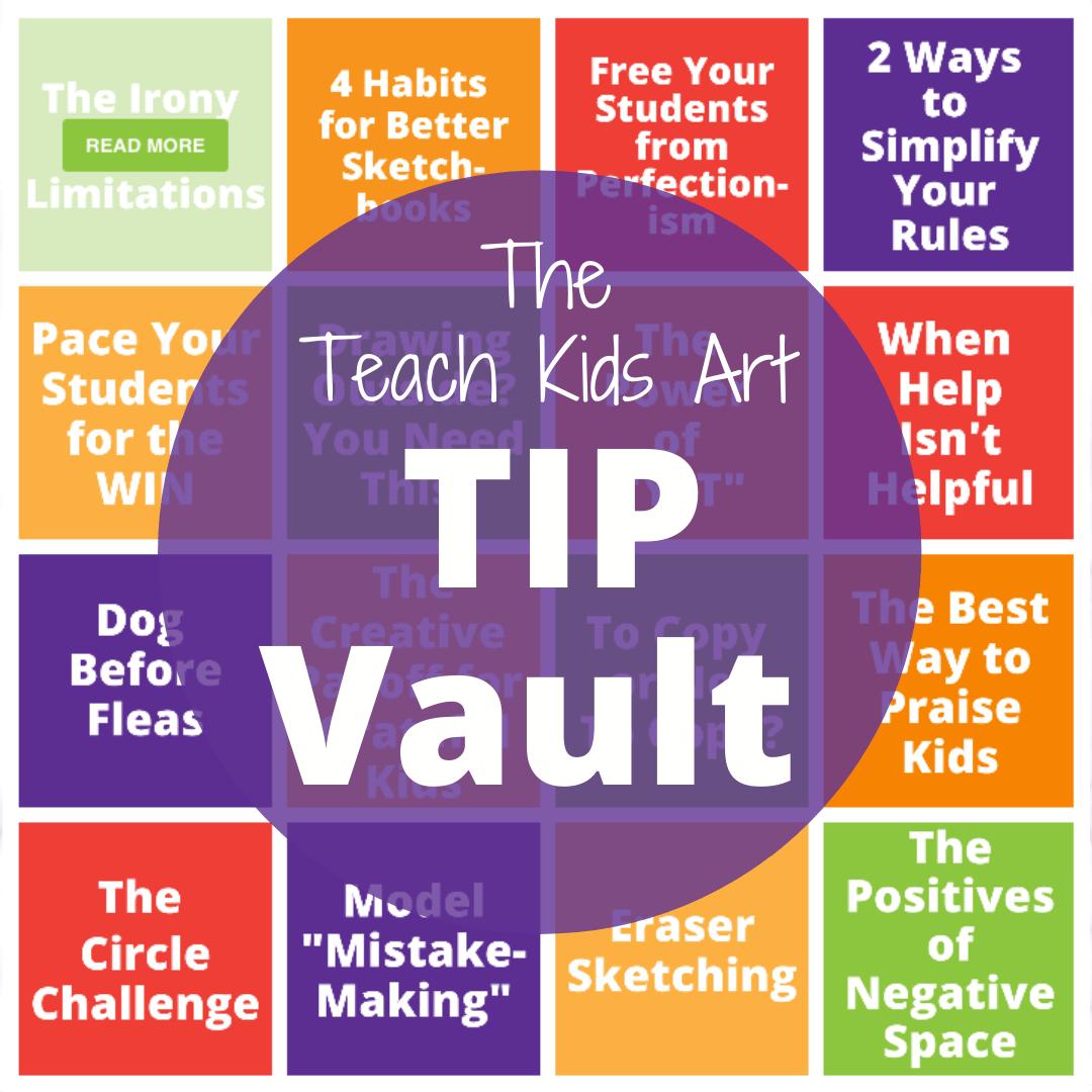 photo of the Teach Kids Art Tip Vault