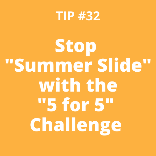 Stop Summer Slide with the 5-for-5 Challenge