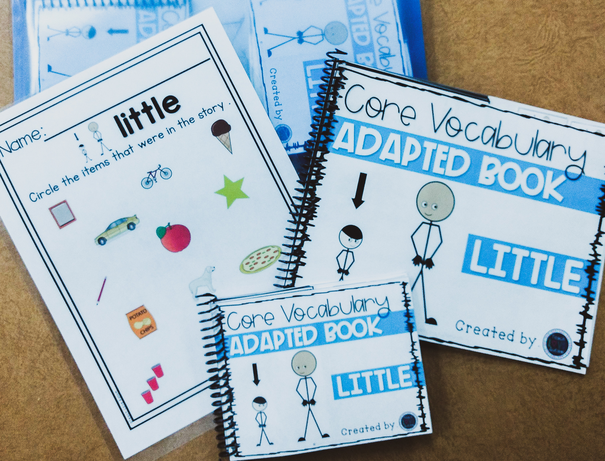 Core Vocabulary Book And Worksheet Bundle