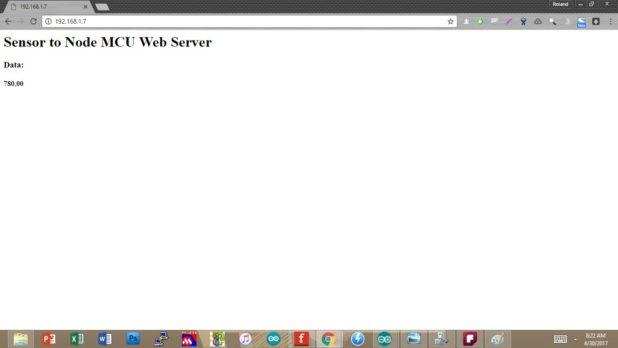nodemcu server page