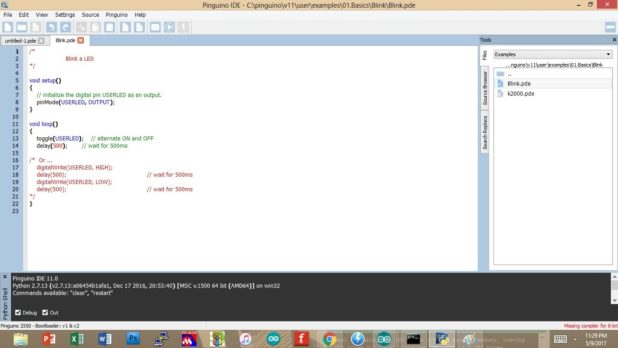 arduino like ide for pics - pinguino 2
