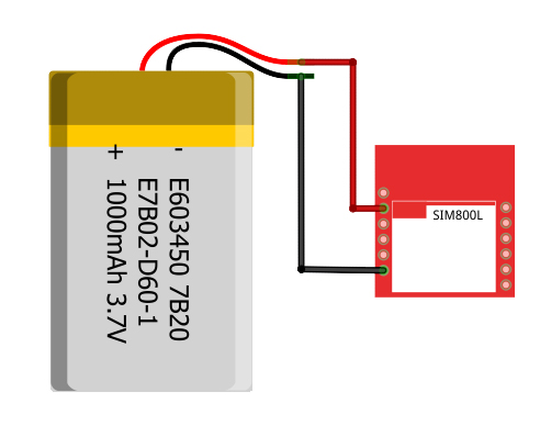 SIM800L and LiPo battery
