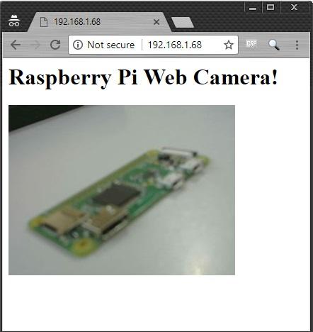 Raspberry Pi Web Camera