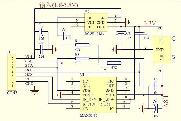 max30100 schematic diagram