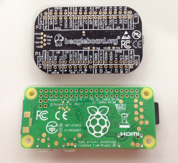 Raspberry Pi Zero PocketBeagle back