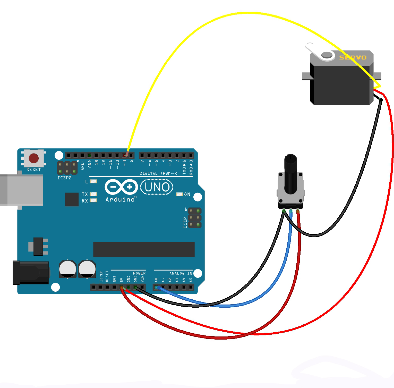 Fantastic Connecting A Servo Motor To An Arduino Microcontroller Tutorials Wiring Digital Resources Remcakbiperorg