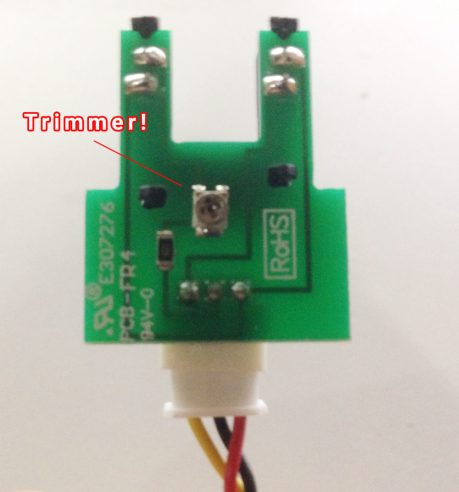 arduino turbidity sensor trimmer adjustment