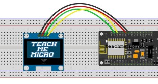 "Wiring diagram of 1.3"" I2C OLED and NodeMCU"