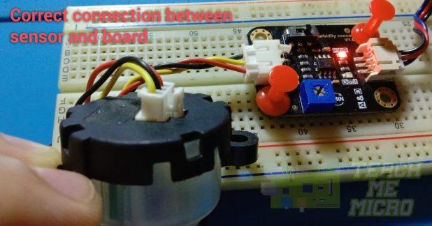 Correct connection between sensor and controller