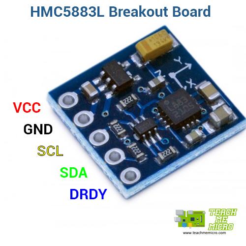 HMC5883L Breakout Board