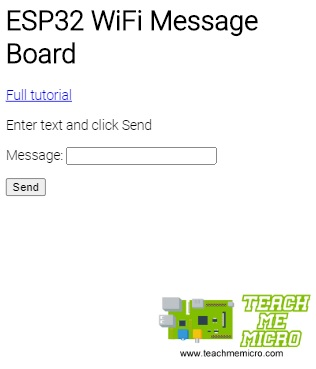 ESP32 Max7219 WiFi Message Board App