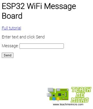 ESP32 Max7219 WiFi Message Board App