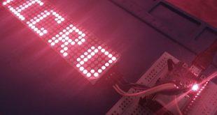 ESP32 MAX7219 WiFi Message Board