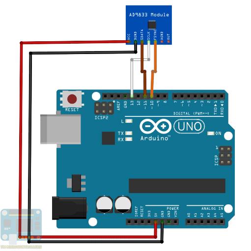 Arduino AD9833 wiring