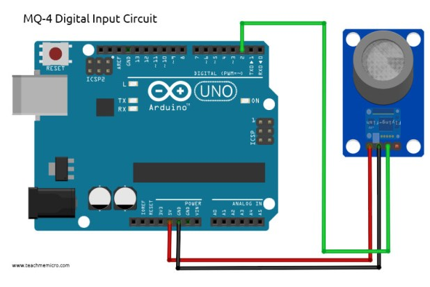 Arduino MQ-4 Digital Output