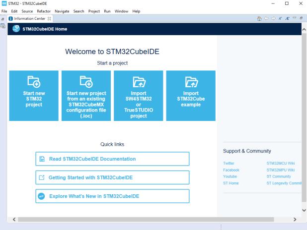 STM32Cube information enter