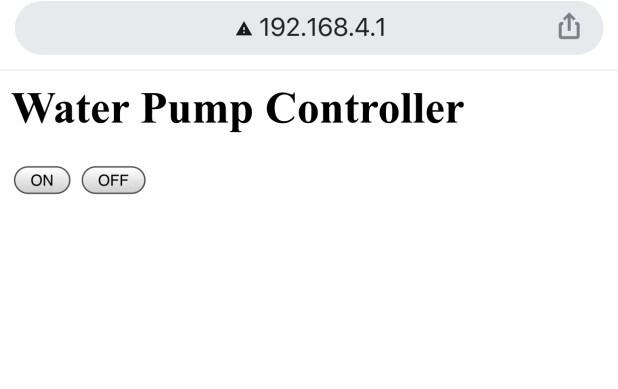 water pump controller ui