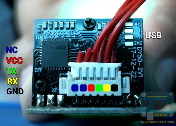 fingerprint sensor module pinout