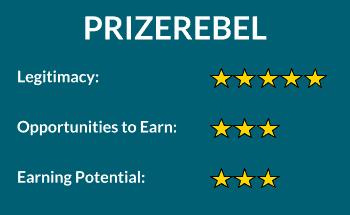 PrizeRebel rating for online surveys