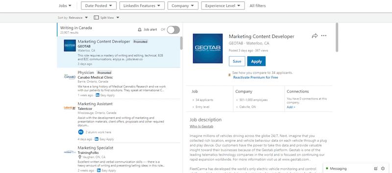 Linkedin Online Writing Jobs